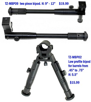 "Clamp on Style Bi-Pod 9"" to 12"""