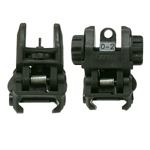 Polymer Flip Up Front and Rear Sights with Metal Appertures