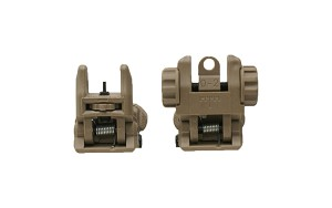 Polymer Flip Up Front and Rear Sights Desert Tan
