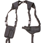 Ambidextrous Concealed Shoulder Holster-Medium Frame. Black